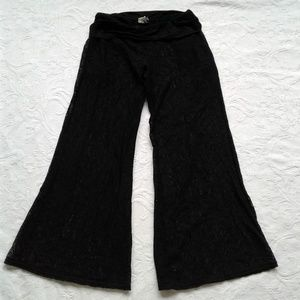 Kenneth Cole Reaction Pants Flare Stretch Lace S